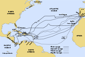 The Routes Taken By Columbus On His Four Voyages Pictures
